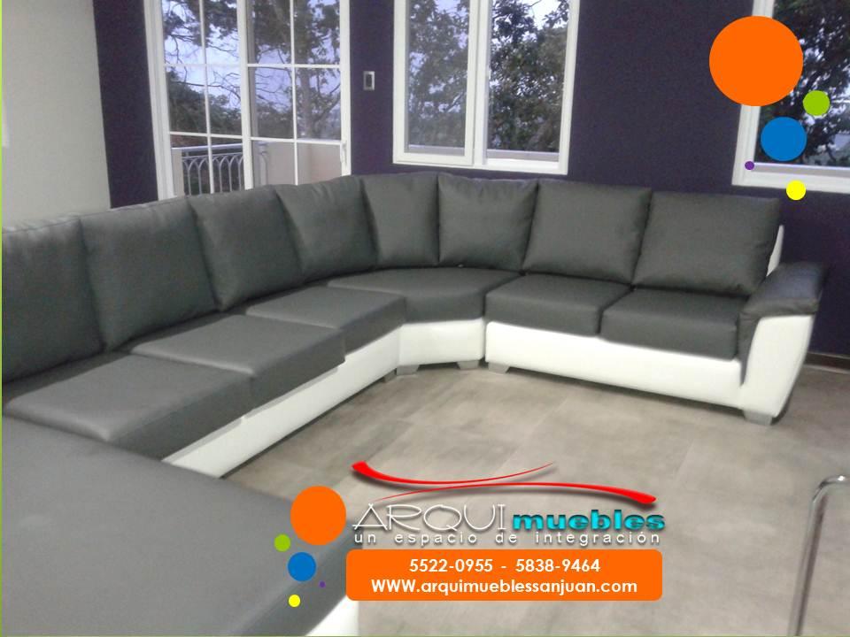 Sofa blanco y gris elegant sof modelo praga color gris for Sofa gris y blanco
